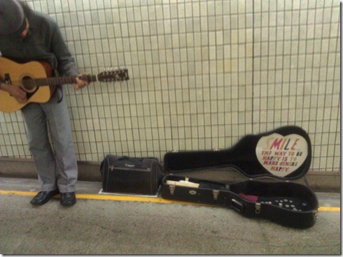 Brisbane Central Station busker