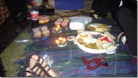Midnight masquerade picnic