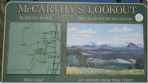 Glass House Mountain directory at McCarthy's Lookout, Maleny, Queensland