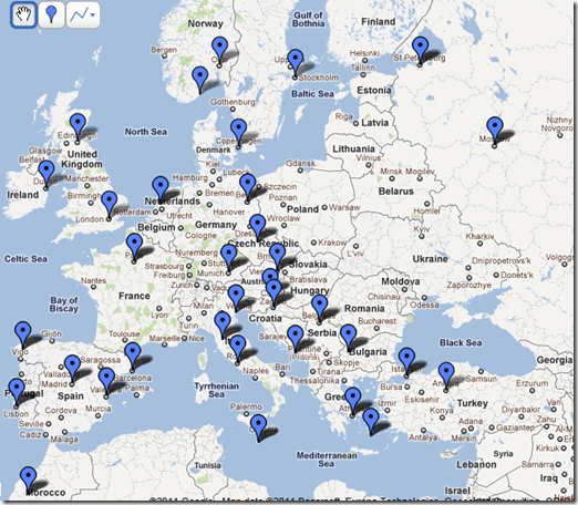 2012 Travel Adventure Map