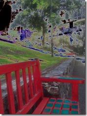 Red bench King Edward Park Brisbane