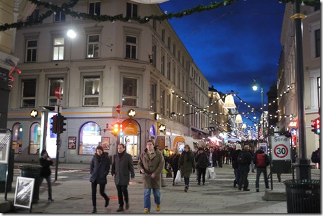 inner city at night - Oslo, Norway