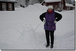 My first snow person at Kleivstua Norway