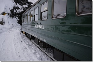 Vintage train on the Flåm Railway in Norway