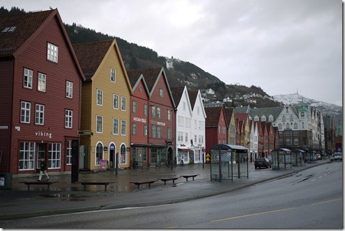 Bryggen old town in Bergen Norway
