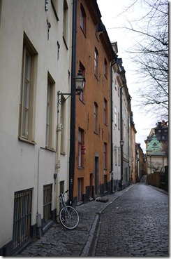 Walking through Gamla Stan Stockholm Sweden