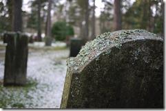 Headstone at Skogskyrkogården cemetery Stockhom Sweden