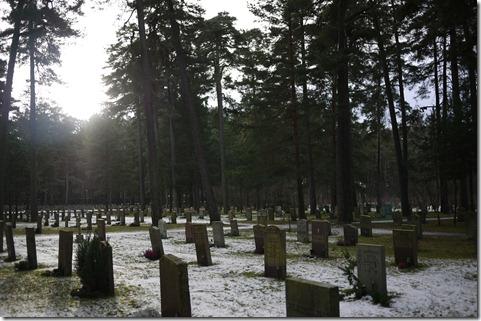 Headstones at Skogskyrkogården cemetery Stockhom Sweden