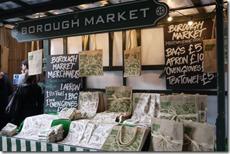 Borough Market merch stand