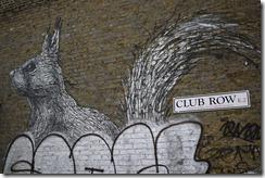 Street art graffiti Shoreditch London - Club Row