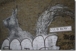 Street art graffiti Shoreditch London - Club Row