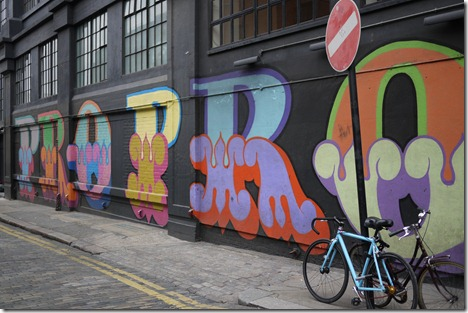Street art graffiti Shoreditch London