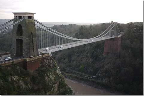 The Bristol suspension bridge over the River Avon, Bristol UK