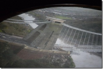 View of Bristol suspension bridge from the hilltop camera obscura