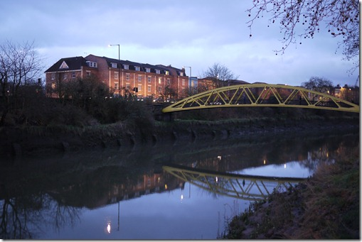 River Avon on dusk in Bristol UK
