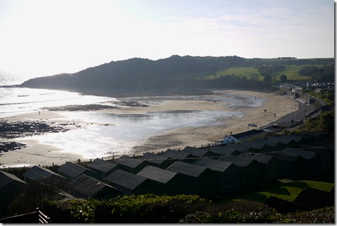 Overlooking a winter beach near Mumbles, Wales