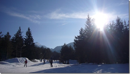 A sunny ski road, Bansko, Bulgaria