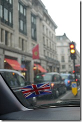 Driving our Wicked campervan through Regent Street London UK