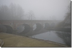Fog in Stratford-upon-Avon, UK