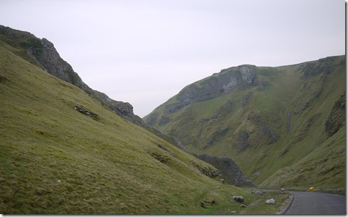 Dipping gullies & a winding road through the Peaks District, England, UK