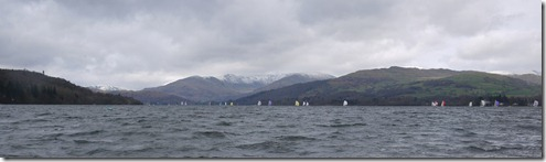 Sail boats on Windermere Lake, Lake District, England