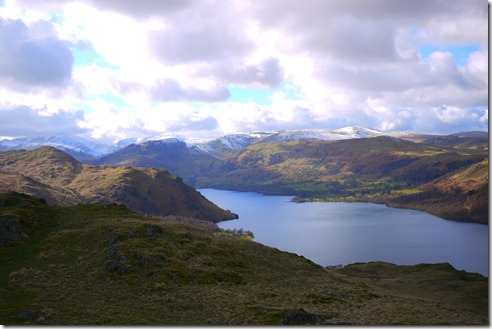 View of Ullswater from Hallin Fell, Howtown, Lake District, England