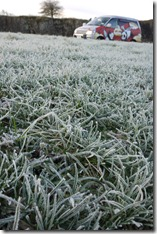 Frost at Walltown Quarry / Whinn Sill, Hadrian's Wall, England, UK