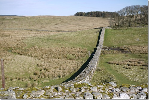Hadrian's Wall from Housesteads Fort, England