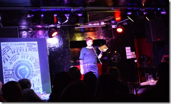 Poetry Slam Rachel McCrumb at The Banshee Labyrinth Edinburgh Scotland UK