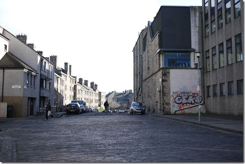 Inner city urban street Edinburgh Scotland