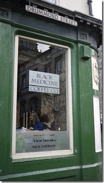 Black Medicine Coffee Co. Drummond Street Edinburgh Scotland