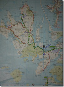 Our road map of Isle of Skye, Scotland