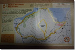 Walking map of Hallin Fell, Howtown, Lake District, England