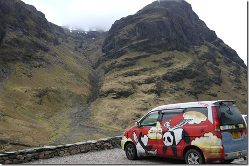 Panda Wicked van loves the views - The Highlands, Scotland