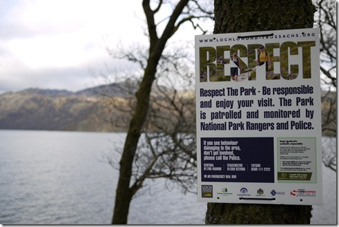 Loch Lomon, Respect, camping Scotland