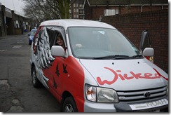 Collecting our campervan in London