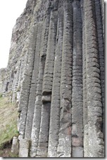 The Giant's organ at Giant's Causeway, Causeway Coast, Northern Ireland UK