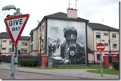 Peace mural, The Bogside, Old city, Derry, Londonderry, Causeway Coast, Northern Ireland UK