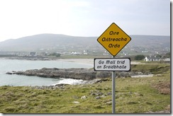 Bilingual signs in Ireland