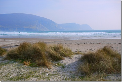Sandy beaches The west coast of Ireland, Achill Island