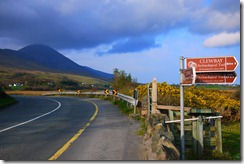 The road out of Westport, Ireland