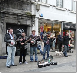 Galway street performers - live music, west coast of Ireland