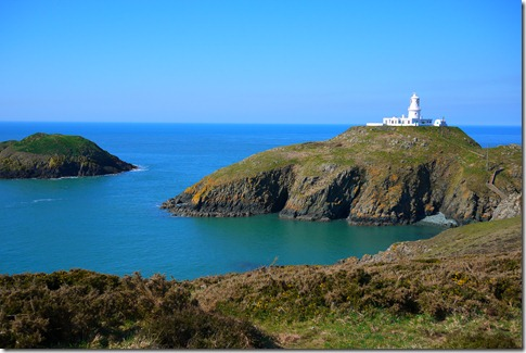 Strumble Head lighthouse Pembrokeshire Coast National Park Wales