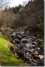 Talybont Reservoir waterfall walk Brecon Beacons National Park, Wales