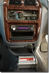 The music hub in our Wicked campervan