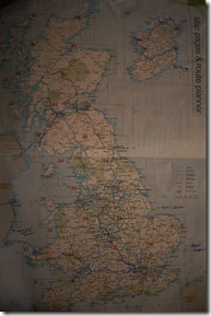 Road trip route for UK and Ireland