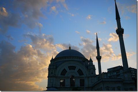 Istanbul Turkey - sunset minarets