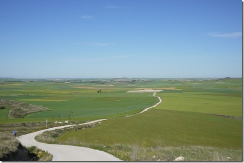 The start of the Meseta outside Burgos - el Camino de Santiago, Camino Frances, Spain