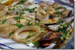 Calamari & mussels - Seafood on the Mediterranean - Spain Andalusia
