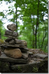 Rock piles - Walking Camino de Santiago from Sarria, Spain